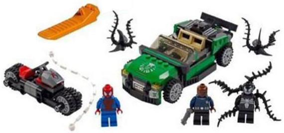 Конструктор DECOOL 7104 Человек-паук против Венома
